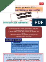 121002.Puntos de Vista PSOE de Extremadura - Presupuestos Generales