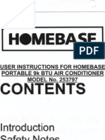 Homebase Air Conditioner 253797 Manual