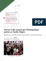 24-09-2012  Sexenio Puebla - Moreno Valle anuncia que Tlatlauquitepec podría ser Pueblo Mágico