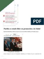 27-09-2012 Sexenio Puebla - Puebla es estado líder en promoción a la Salud