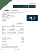 GARP -Mandeep Invoice