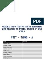 taj group service sector management project