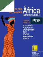 """Jornadas """"Al Sur del Sáhara. África Imprescindible"""" Programa 2012"""