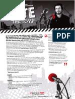 Pete the Temp Info Sheet