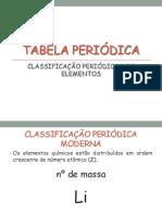 AULA - TABELA PERI+ôDICA - SLIDES