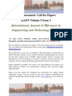 Call for Papers Vol 5 Iss 1
