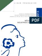 Projet de loi de Finances 2013 - Mission Médias, livre et industries culturelles