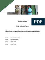 Microfinance and Regulatory Framework-Finalcopy