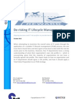 De-risking IT Lifecycle Management