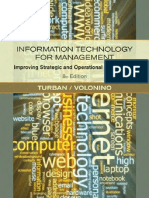 Wiley - Information Technology for Management - Improving Strategic and Operational Performance, 8th Edition