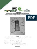 Desarrollo de Tecnicas No Destructivas Para Maderas