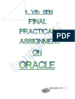 Bca Vth Sem Final Practical Assignment(Oracle)