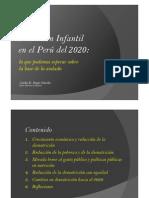 Nutricion Infantil en El Peru Para El 2020