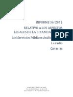 INFORME 36 Financiación Serviios Públicos audiovisuales