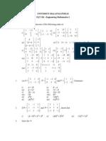 Exercise (Matrices)