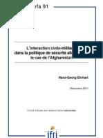 L'interaction civilo-militaire dans la politique de sécurité allemande