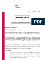 Compte Rendu - Commission Info-Com - 15-02-2012