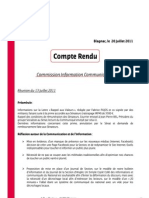 Compte Rendu - Commission Info-Com - 13-07-2011