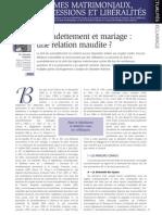 Surendettement et mariage