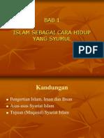 Bab-1 Islam Sebagai Cara Hidup