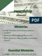 Stewardship - Ministries