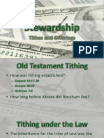 Stewardship - Tithes and Offerings