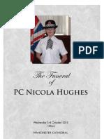Order of Service - Nicola Hughes