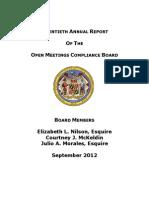 OMCB Report 20 2012