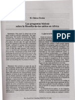 H. Odera Oruka - Las preguntas básicas sobre la filosofia-de-los sabios en Africa