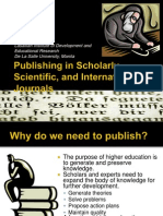 Publishing in International Journals