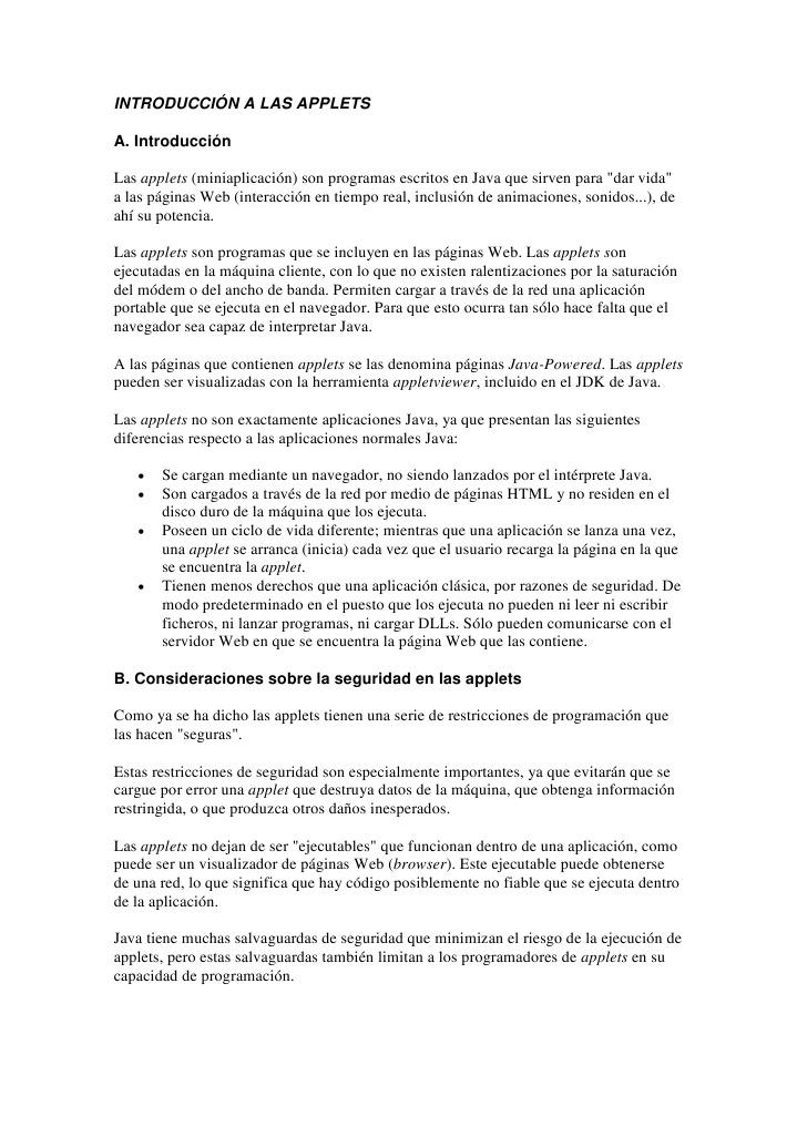 introduccion Applets java español