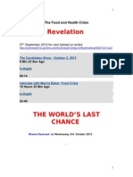Revelation.the Food and Health Crisis 3.10.2012