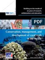 Building on the results of six years of research, collaboration and education Conservation, management, and development of coral reefs in the Pacific Author