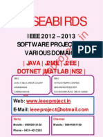Ieee 2012 Projects Software Engineering @ Seabirds ( Cochin, Thiruvananthapuram, Mysore, Mangalore, Hubli, Chennai, Trichy )