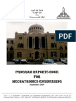 PROGRAM REPORTS BOOK FOR MECHATRONICS ENGINEERING ASU