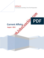 Current Affairs August 2012
