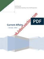 Current Affairs January 2012