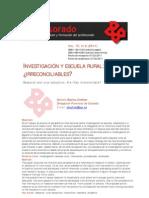 INVESTIGACIÓN Y ESCUELA RURAL