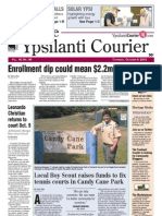 Ypsilanti Courier Front Page Oct. 4, 2012