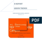 A Research Report on FASHION TRENDS of YOUTH