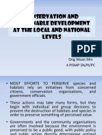 Conservation and Sustainable Development at the Local and National