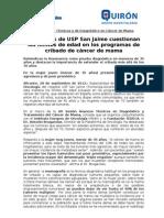 120928_Oncólogos de USP San Jaime reivindican la resonancia para el cribado de cáncer de mama en edades extremas