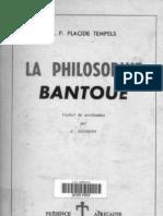 La Philosophie Bantoue - Placide Tempels -1965
