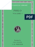 Philo Volume I on the Creation Allegorical Interpretation of Genesis 2 and 3