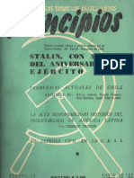 PRINCIPIOS N°10 - ABRIL DE 1942 - PARTIDO COMUNISTA DE CHILE