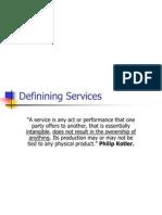 Definining Services