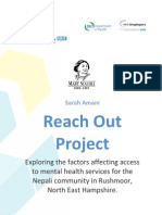 Mary Seacole Award Reach Out Project Report