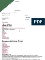 Responsabilidade social - Gafisa - Incorporadora e construtora líder no mercado brasileiro