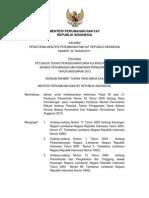 Peraturan Menteri Perumahan Rakyat Nomor 30 Tahun 2011 tentang Petunjuk Teknis Penggunaan Dana Alokasi Khusus Bidang Perumahan dan Kawasan Permukiman Tahun Anggaran 2012