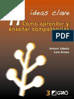11 ideas clave- cómo aprender y enseñar competencias Escrito por Antoni Zabala-Laia Arnau (2)
